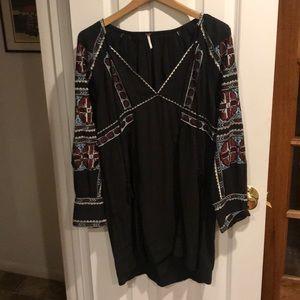 Free people bohemian long sleeve dress